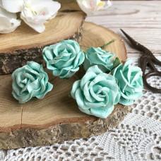Роза maxi с закруглёнными лепестками, 4 см., мятная