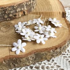Цветочек маленький 17 мм., цвет белый, 5 шт.