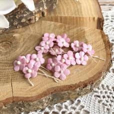 Цветочек маленький 13 мм., цвет розовый, 5 шт.