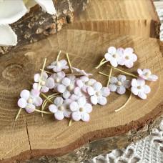 Цветочек маленький 13 мм., цвет белый/розовый, 5 шт.