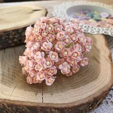 Цветок вишни мини, 1 см., розово-персиковый светлый