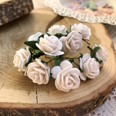 Роза, 2 см., белая