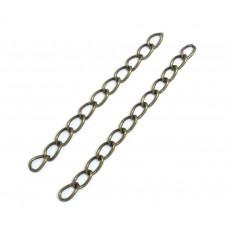 Цепочка для скрапбукинга, 3х6 мм., 4-5 см., цвет бронза