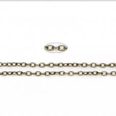 Цепочка для скрапбукинга, 3х2 мм., 20 см., цвет бронза