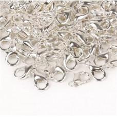 Карабин (замочек) для скрапбукинга, 10 х 5 мм., цвет серебро