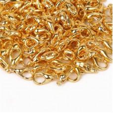 Карабин (замочек) для скрапбукинга, 10 х 5 мм., цвет золото
