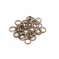 Колечки для подвесок, бронза, 6 мм., 5 шт.