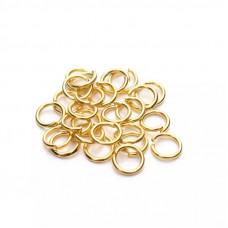Колечки для подвесок, золото, 6 мм., 5 шт.