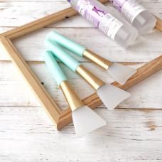 Кисть для клея силиконовая широкая, цвет ручки - мятный