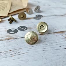 Магнитная кнопка, 1,8 см., золото