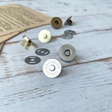 Магнитная кнопка, 1,8 см., серебро