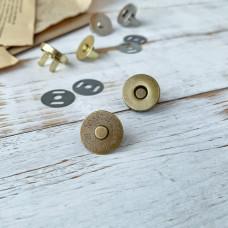 Магнитная кнопка, 1,8 см., бронза