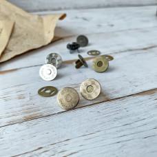 Магнитная кнопка тонкая, 1,5 см., золото