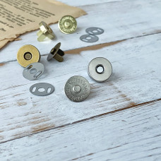 Магнитная кнопка, 1,4 см., серебро