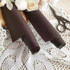 Искусственная кожа для скрапбукинга на тонкой тканевой основе, цвет коричневый