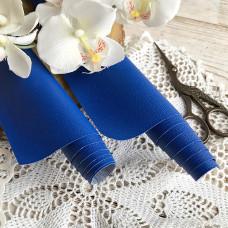 Искусственная кожа для скрапбукинга на тонкой тканевой основе, цвет синий