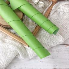 Искусственная кожа для скрапбукинга на тонкой тканевой основе, цвет зелёный