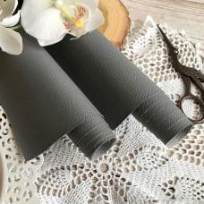Искусственная кожа для скрапбукинга на тонкой тканевой основе, цвет серый