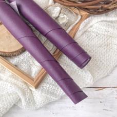 Искусственная кожа для скрапбукинга на тонкой тканевой основе, цвет фиолетовый