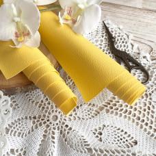 Искусственная кожа для скрапбукинга на тонкой тканевой основе, цвет жёлтый