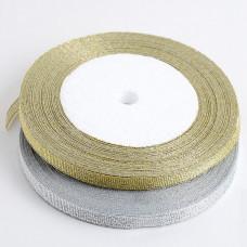 Лента парчовая, 6 мм. (серебро, золото)