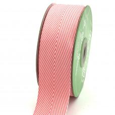 Лента May Arts Твиловая, 1,5 дюйма, Цвет - Розовый, 1 ярд