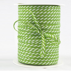 Лента May Arts Диагональная полоска, 1/8 дюйма, Цвет - Зелёный, 1 ярд