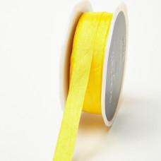 Лента May Arts Иск.шёлк, 1/2 дюйма, Цвет - Жёлтый, 1 ярд