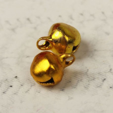 Бубенчики 0,6 см, цвет золотистый, 5 штук