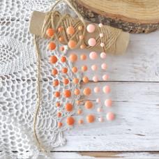 Дотсы (эмалевые точки) оранжевые