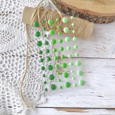 Дотсы (эмалевые точки) зелёные