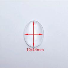 Капелька прозрачная декоративная, овал 10 х 14 мм.