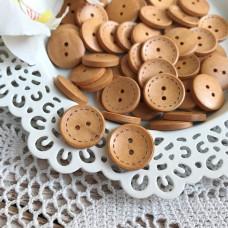 Декоративная пуговица круглая со строчкой, 2 см.