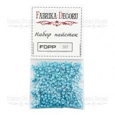 Набор пайеток Фабрика Декора, голубой (307)