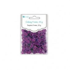 Пайетки голографические 9 мм, цвет фиолетовый