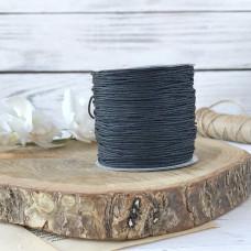 Шнур вощеный чёрный, 1 метр