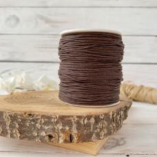 Шнур вощеный коричневый, 1 метр