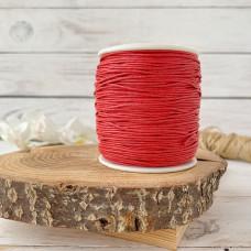 Шнур вощеный красный, 1 метр