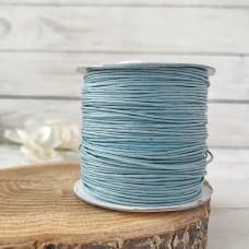 Шнур вощеный голубой, 1 метр