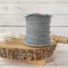 Шнур вощеный серый, 1 метр