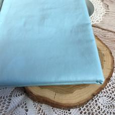 Ткань однотонная голубая, холодная