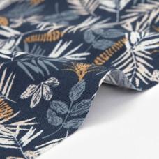 Ткань Dailylike 452 Azure leaf (оксфорд)