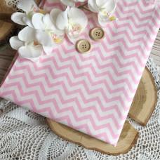 Ткань шеврон розовый