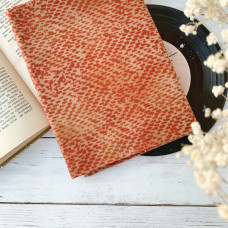 Ткань оранжевая с рисунком Пятна, Peppy