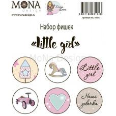 """Набор фишек от Mona Design """"Little girl"""""""