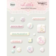 Набор эпоксидных наклеек 16 шт. от Scrapmir Little Bunny