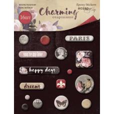 Набор эпоксидных наклеек 16 шт. от Scrapmir Charming