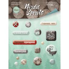 Набор эпоксидных наклеек 16 шт. от Scrapmir Nordic Spirits