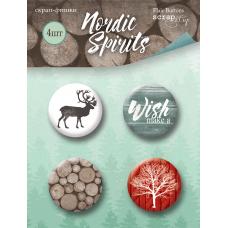 Набор скрап-фишек для скрапбукинга 4 шт. от Scrapmir Nordic Spirits