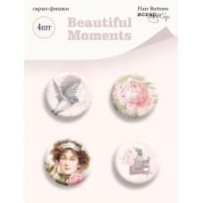 Набор скрап-фишек для скрапбукинга 4 шт. от Scrapmir Beautiful Moments